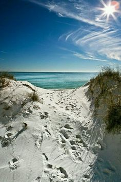 The fine sand  forming sand dunes in  Grand Beach, Manitoba, Canada.