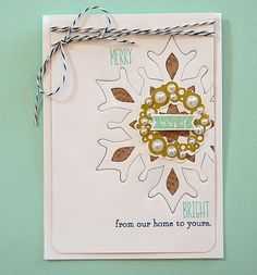 Merry & Bright Card by Danielle Flanders for Papertrey Ink (September 2013)