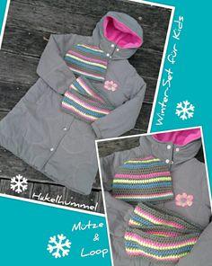 Winter-Set für Kids > Mütze & Loop <  #häkeln #Loop #Mütze #crochet #cap