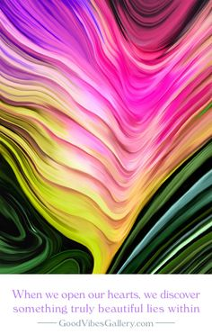 Painting by GoodVibesGallery.com – Pink Purple Yellow Abstract Art