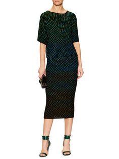 M Missoni Knit Midi Intarsia Dress
