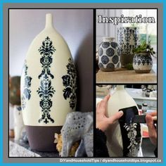 DIY And Household Tips: Pottery Barn Inspired Ceramic Vase Makeover