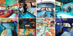 Taxi cab interiors in India