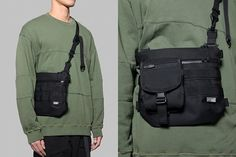 4dimension® - (W-3) Shoulder Bag [black] 2017 Collection1 Features  _wear & water resistant fabric / ripstop lining  _2 main compartment / 1 hidden pocket at the back  _customized YKK® waterproof zippers  _YKK® zipper with tactical pulls  _modular system (for the attachment of pouch and wallet)  _YKK® buckles  _Duraflex® detachable buckle clip  _fast release system with FIDLOCK® magnetic buckle  _high density webbing 27cm x 24.5cm x 2cm  Strap Length(longest) : 115cm #4dimension #shoulderbag…