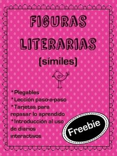 A free sample lesson about similes full of activities and foldables for you to use with your dual language or Spanish learning students. Entirely written in Spanish, this unit is a hands-on approach to teaching literary figures.Included in this freebie you will find:-A step-by step lesson on similes -2 types of foldables to choose from (ideal for your interactive journals)-A set of sorting cards for students to practice and review what they have learned.