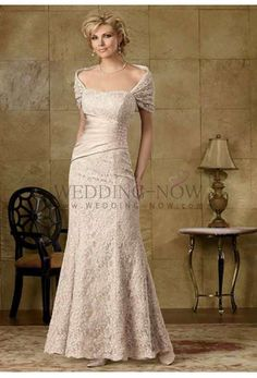 A-line Square Neckline Lace Mother of the Bride Dress. List Price : $1234.57 (New Price : $319.99)
