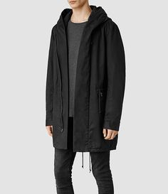 Mens Chilton Parka Jacket (Black) - ALLSAINTS