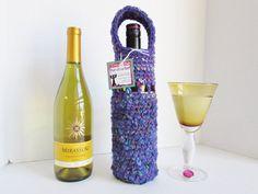 Clearance Sale-Wine Bottle Holder Wine by LoveandPetFurCrochet