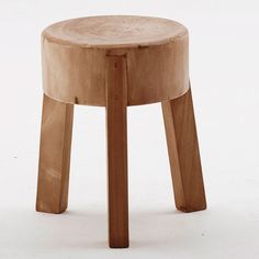 Awesome Wooden Stool Side Table