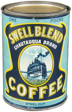 Rare Swell Blend 1# Coffee Tin : Lot 324 #coffee #oldcan #oldtin #antique #rustic