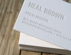 CODO Design - Neal Brown hospitality group #businesscard