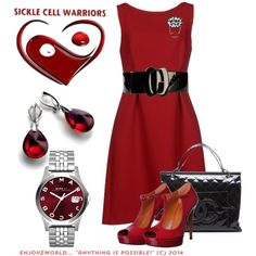 """""""SICKLE CELL AWARENESS Contest: """"Warriors"""""""" by enjoyzworld on Polyvore"""