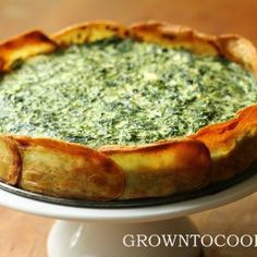 Spinach and spring herb torta in a potato crust | grown to cook