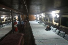 Barco nocturno hacia Surat Thani, hacinamiento