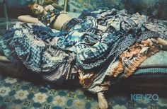 Jessica Stam by Paolo Roversi for Kenzo Spring 2005 Campaign