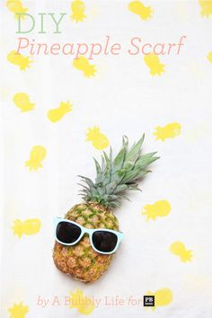 pinapple wallpaper iphone - DIY Pineapple Stamped Scarf on PBteen Summer Wallpaper, Wallpaper For Your Phone, Iphone Wallpaper Pineapple, Ideias Diy, Backrounds, Pbteen, Summer Scarves, Cute Wallpapers, Pottery Barn