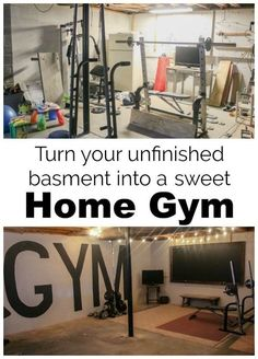 How we created an industrial style home gym in our unfinished basement on a tiny budget of only $100. This basement gym is full of DIY projects and simple ideas to create a stylish and functional gym on a budget.