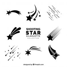 Discover thousands of copyright-free vectors. Graphic resources for personal and commercial use. Thousands of new files uploaded daily. Star Svg, Star Tattoo Designs, Star Designs, Shooting Star Drawing, Shooting Star Tattoos, Star Doodle, Ciel Nocturne, Free Shoot, Shooting Stars