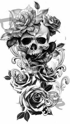 Floral Tattoo Design, Skull Tattoo Design, Tattoo Sleeve Designs, Flower Tattoo Designs, Aztec Tattoo Designs, Family Tattoo Designs, Clock Tattoo Design, Unique Tattoo Designs, Skull Design