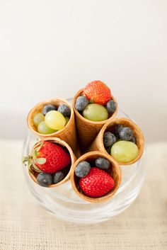 Sugar cones are a delicious compliment to an array of fruit - bjl