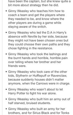The book Ginny Weasley everybody. SO misrepresented in the movies! (Although I did love Bonnie!)