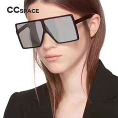 #SUNGLASSES #NEW CCSPACE Ladies Oversized Square Sunglasses Men Women Brand Designer Glasses Fashion Eyewear 100% UV Protection 45171