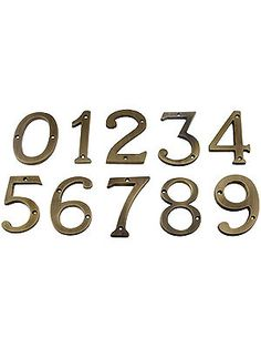 "4"" Cast Brass House Numbers With Choice of Finish 