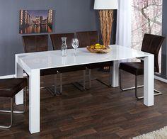 DELIFE Ausziehtisch Xevora 180-270x100 cm Weiss Hochglanz, Esstische 9185-8671-0 Jetzt bestellen unter: http://www.woonio.de/produkt/delife-ausziehtisch-xevora-180-270x100-cm-weiss-hochglanz-esstische-9185-8671-0/