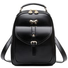 Finally! I found the Sweet Lady Bow Buckle Student Bag Simple PU School Backpack from ByGoods.com. I like it so so much!