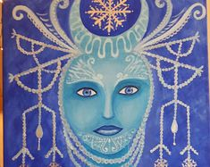 Winter soul - my acrylic painting on canvas