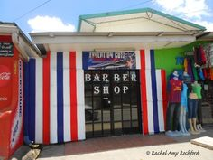 Barbershop in Aranguez Trinidad, photographed by Rachel Amy Rochford