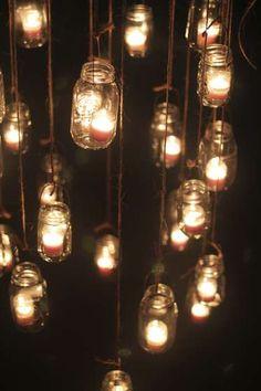 Sustainable architecture, design, art, fashion, eco-chef and more - DIY Project | Hazlo tu mismo - Christmas jar candle chandeliers ǀ Candelabro de velas para Navidad