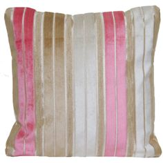 SALE Now 19.99 Was 25.99 Pink And Beige Cushion Cover Designers Guild... ($32) ❤ liked on Polyvore