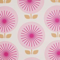 Sunburst Removable Wallpaper in Pink - Budding Beauty on Joss  Main