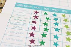 Daily Tasks Chore Chart via Clean Mama