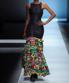 L'africain Adriane imprimer robe robe africaine par FashAfrique