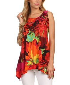 Red Tropic Sidetail Top by Come N See #zulily #zulilyfinds