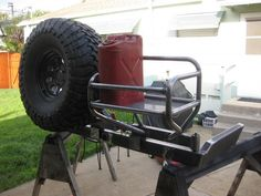 Sequoia swing out tire carrier bumper