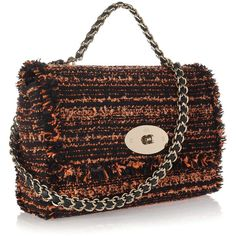 Mulberry Lily bouclé tweed shoulder bag ($1,220) ❤ liked on Polyvore