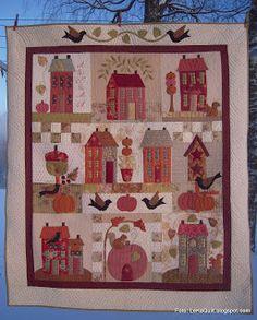 LeKaQuilt: Autumn House en ferdig quilt