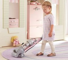 "A mini Dyson should have a mini Dyson, right? If I have a child this is how she will ""play""...play cleaning and organizing (it's a sickness that will get passed down)"