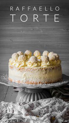 Raffaello Torte – Ahalni Sweet Home - Vegan Cheesecake Recipes Chocolate Desserts, Vegan Desserts, Chocolate Cake, Cheesecake Recipes, Cupcake Recipes, Oreo, Best Vegan Cheese, Cupcakes, Mousse Cake