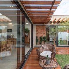 stylishly enjoyable backyard furniture ideas you'll adore 64 « Dreamsscape Terrace Design, Patio Design, Exterior Design, Outdoor Spaces, Outdoor Living, Modern Deck, Backyard Furniture, Furniture Ideas, Modern House Design