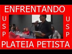 👍👍ESTUDANTE CORAJOSO ENFRENTA PLATEIA DE PROFESSORES ESQUERDISTAS DA USP