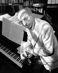 Composer, conductor Aaron Copland ...