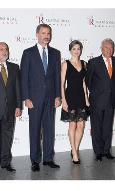 Spain's King Felipe VI and Queen Letizia were attending the opening season performance of Otello.