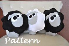 Farm Animal Sheep Pattern PDF -Count the Sheep Plush Pillow PDF Tutorial How to DIY epattern. $4,99, via Etsy.