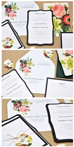 classic + florals! plantation floral wedding invitation.