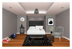 """""""Modern bedroom"""" by tahsine-976 ❤ liked on Polyvore featuring interior, interiors, interior design, home, home decor, interior decorating, LSA International, Ivano Redaelli, Dr. Martens and Billini"""