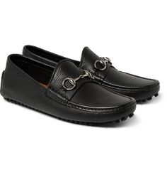 Gucci - Horsebit Grained-Leather Driving Shoes